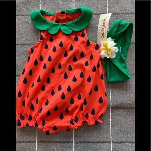 NWT Watermelon 🍉 outfit with matching head band